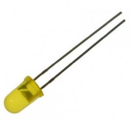 Led amarelo 5mm (difuso)
